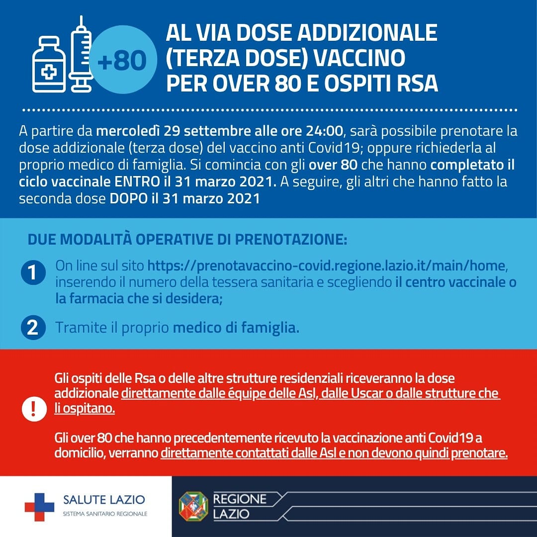 Terza Dose Over 80